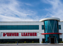 Denver Leather Factory in Antalya, Turkey. Royalty Free Stock Photos