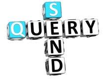 3D enviam palavras cruzadas da pergunta no fundo branco Foto de Stock Royalty Free