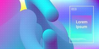 Современные динамические формы подачи с жидким влиянием зарева иллюстрация штока