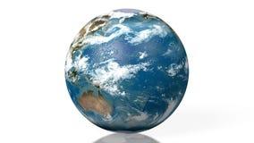 3D Erde, Kugel, Weltkarte vektor abbildung