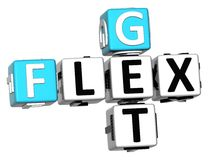 3D erhalten Flex Crossword-Text Lizenzfreie Stockfotografie