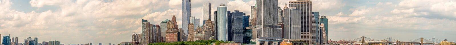 Dżersejowa miasta i Manhattan linia horyzontu od gubernator wyspy Zdjęcie Stock