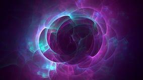 3D erzeugter Fractalzusammenfassungs-Lichthintergrund Stockbilder