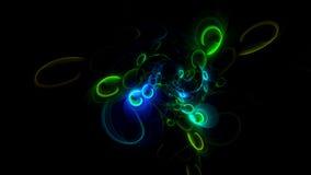 3D erzeugter Fractalzusammenfassungs-Lichthintergrund Lizenzfreies Stockfoto