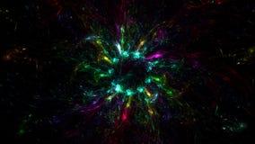 3D erzeugter Fractalzusammenfassungs-Lichthintergrund Lizenzfreie Stockbilder