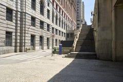 D'escalier le centre ville dedans de la ville de Sao Paulo Photos stock
