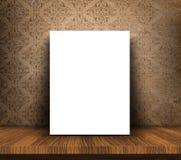 3D esconden la lona en la tabla de madera contra backgro del papel pintado del grunge libre illustration