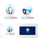 3D esfera Logo Design Vector Imagenes de archivo