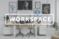 ` D'espace de travail de ` d'écriture et siège social photos stock