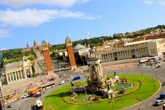 D'espanya de Placa à Barcelone, Espagne Photographie stock libre de droits