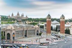D'Espanya Plaça ή πλατεία της Ισπανίας Βαρκελώνη Ισπανία Στοκ Εικόνες