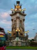 D'Espanya Plaça в Барселоне Стоковое Фото