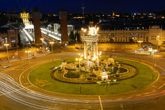 D'Espanya Plaça, Βαρκελώνη, Ισπανία Στοκ φωτογραφίες με δικαίωμα ελεύθερης χρήσης