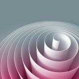 3d espiral colorida, ilustração digital abstrata, fundo Fotografia de Stock Royalty Free