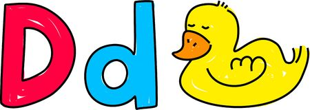 D est pour le canard Photographie stock libre de droits