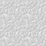 3D estampado de flores blanco inconsútil, vector La textura sin fin se puede utilizar para el papel pintado, terraplenes de model Foto de archivo libre de regalías