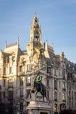 d Estatua de Pedro IV en Oporto foto de archivo