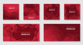 3D estilo de papel abstracto, disposición de diseño para las presentaciones del negocio, aviadores, carteles, impresiones, decora stock de ilustración
