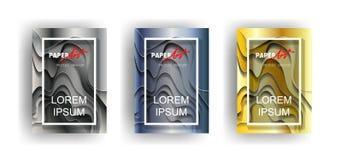 3d, estratto, arte, fondo, insegna, curvatura, blu, affare, carta Fotografia Stock Libera da Diritti