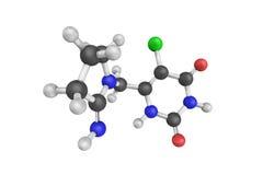 3d estrutura de Tipiracil, uma droga usada no tratamento do cance Fotografia de Stock Royalty Free