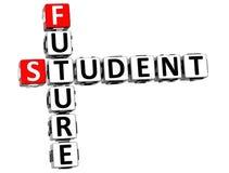 3D estudante Future Crossword ilustração royalty free