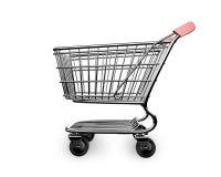3D esvaziam a opinião lateral do carrinho de compras ilustração stock