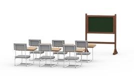 3d esvaziam a sala de aula Imagens de Stock Royalty Free