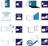 3D et icône plate d'email illustration libre de droits