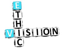 3D Ethic Vision Crossword Stock Photos