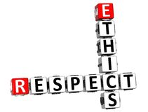 3D Ethics Respect Crossword Stock Photography