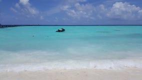Dżetowa narta w morzu Zdjęcie Stock