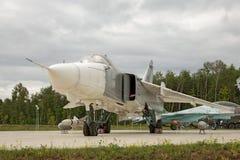Dżetowej bombowiec samolot Sukhoy Su-24 obraz royalty free