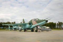 Dżetowy napadu samolot Sukhoy Su-25 zdjęcia royalty free