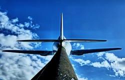 Dżetowy samolot obrazy royalty free