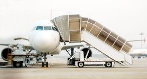 Dżetowy samolot Landed4 zdjęcie stock