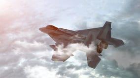 D?etowy samolot na tle niebo 3 d czyni? ilustracji
