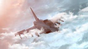 D?etowy samolot na tle niebo 3 d czyni? ilustracja wektor
