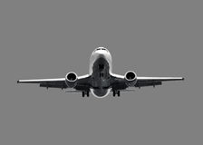 dżetowy samolotu biel Fotografia Royalty Free