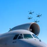 Dżetowy silnik Rosyjski samolot jest 72 Obrazy Royalty Free