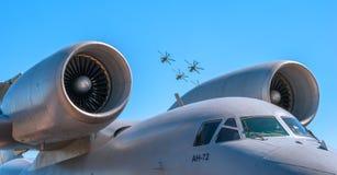 Dżetowy silnik Rosyjski samolot jest 72 Zdjęcie Stock