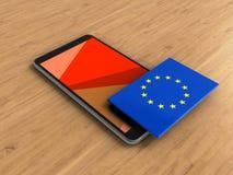 3d EU flag Royalty Free Stock Photos
