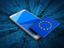 3d EU flag Stock Photo