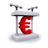 3d Euro currency symbol under pressure Stock Image