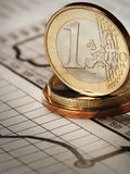 3d euro isolerat objekt en Arkivfoto