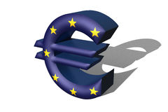 3d euro logo. On a white background 3d euro logo Stock Images