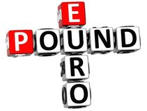 3D Euro Pound Crossword Stock Images