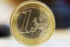 3 d 1 euro przedmiot odizolowane Fotografia Royalty Free