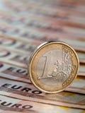 3 d 1 euro przedmiot odizolowane Obrazy Royalty Free