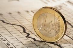 3 d 1 euro przedmiot odizolowane Obraz Stock