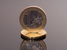 3 d 1 euro przedmiot odizolowane Zdjęcia Stock